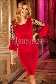 rochii elegante scurte rosii ieftine