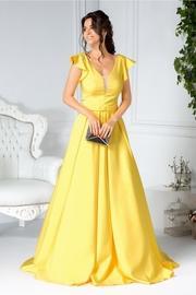 rochii galbene lungi elegante de seara