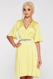 rochii galbene lungi elegante din voal