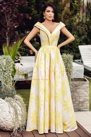 rochii galbene lungi elegante pentru nunta