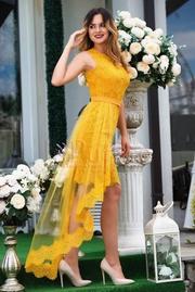 rochii galbene lungi pentru banchet