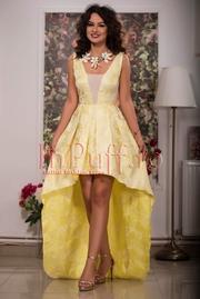 rochii galbene lungi vaporoase