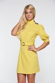 rochii galbene scurte cu tull