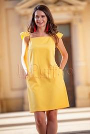 rochii galbene scurte elegante de seara