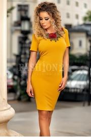 rochii galbene scurte elegante ieftine