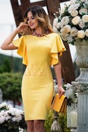 rochii galbene scurte elegante pentru banchet