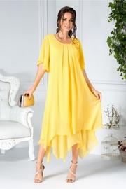 rochii galbene scurte elegante pentru botez