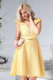 rochii galbene scurte elegante pentru nunta
