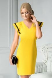 rochii galbene scurte elegante