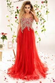 rochii rosii lungi cu paiete