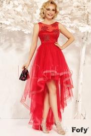 rochii rosii lungi cu spatele decupat