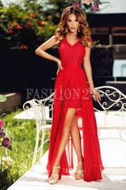 rochii rosii lungi de banchet