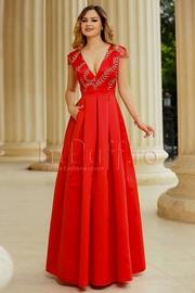 rochii rosii lungi de vara ieftine
