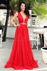 rochii rosii lungi de vara vaporoase