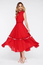 rochii rosii lungi elegante din voal