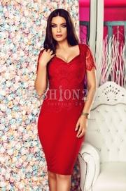 rochii rosii lungi elegante ieftine