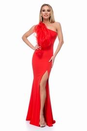 rochii rosii lungi tip sirena