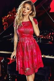 rochii rosii scurte baby doll
