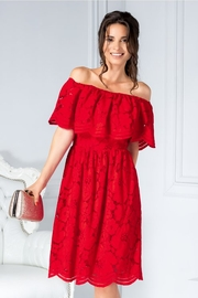 rochii rosii scurte cu dantela