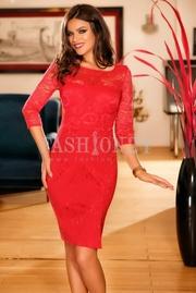 rochii rosii scurte de zi