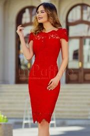rochii rosii scurte elegante de nunta