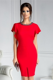 rochii rosii scurte elegante de zi