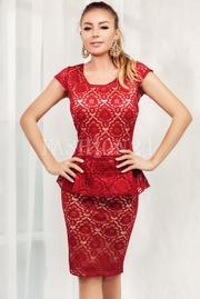 rochii rosii scurte elegante din dantela