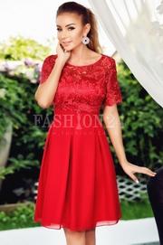 rochii rosii scurte elegante ieftine