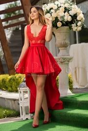 rochii rosii scurte elegante pentru banchet