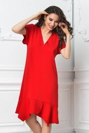 rochii rosii scurte ieftine