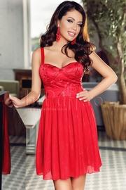 rochii rosii scurte pentru banchet