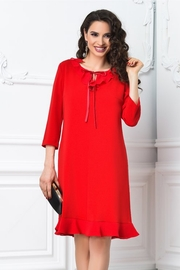 rochii rosii scurte vaporoase