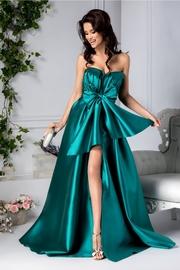 rochii verzi lungi cu crapatura pe picior