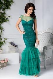 rochii verzi lungi de banchet