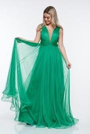 rochii verzi lungi din dantela