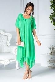 rochii verzi lungi din voal