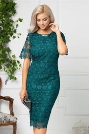 rochii verzi lungi elegante din dantela