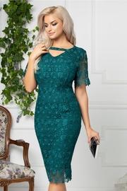 rochii verzi scurte elegante din dantela