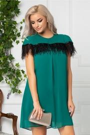 rochii verzi scurte vaporoase