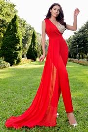 salopete elegante lungi rosii